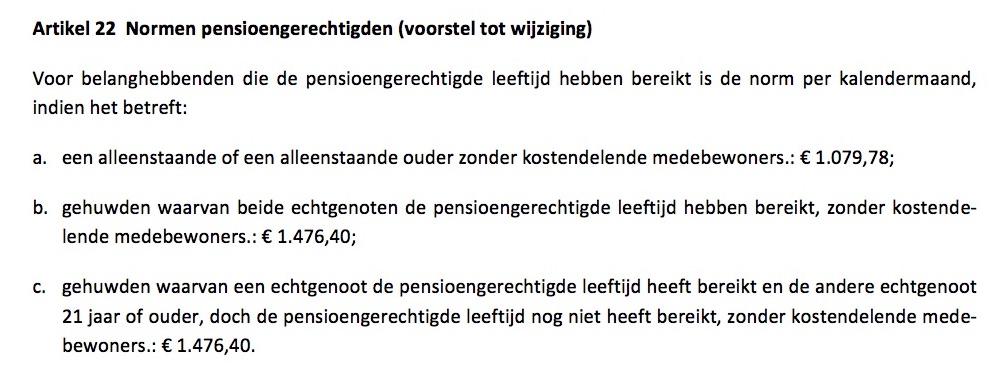 Voorstel wijziging art. 22 PW
